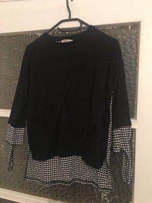 Schwarz weiß mit quadratischem Muster