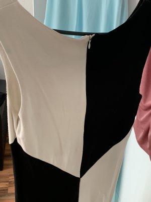 Schwarz weiß Muster Kleid