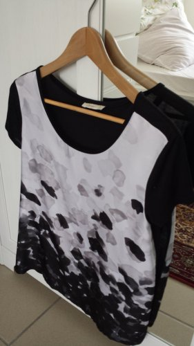 schwarz-weiß T-Shirt Bluse