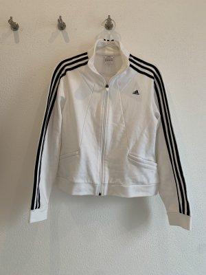 Schwarz/weiße Adidas Jacke