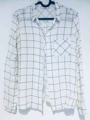 Schwarz-weiße Bluse