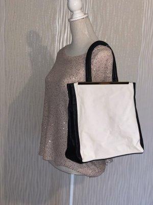 Schwarz Weiße Handtasche