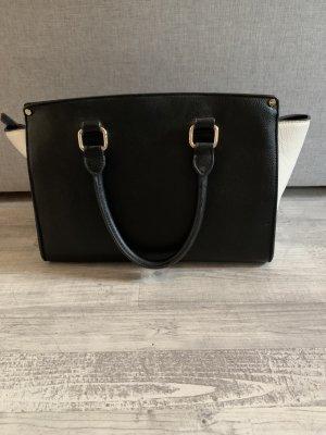 Schwarz weiße Handtasche von LYDC London