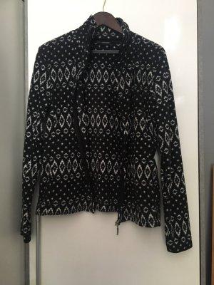 Esmara Veste polaire noir-blanc polyester
