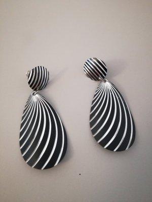 schwarz weiße Ohrringe vintage