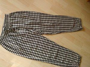 Hailys Pantalon large blanc-noir