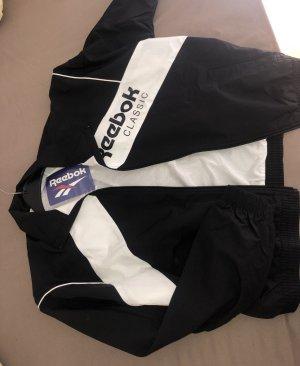 Schwarz/Weiße Reebok Trainingsjacke M