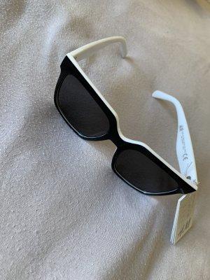 H&M Gafas de sol cuadradas blanco-negro