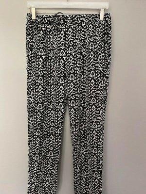 Esmara Pantalone jersey bianco-nero Viscosa