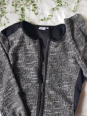 UP Fashion Gebreide blazer wit-zwart Polyester