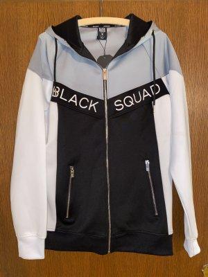 Schwarz/weiße Sweatjacke von Black Squad