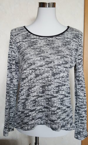 Schwarz/weißer Aniston Pulli Gr. 38
