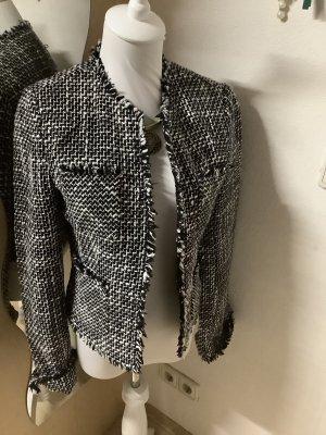 Amisu Tweed Blazer black-white