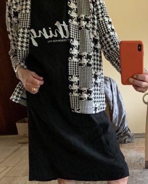 H&M Blazer de tela de sudadera negro-blanco