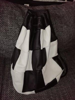 Carrito de mochila negro-blanco puro