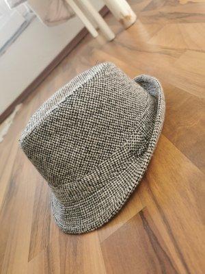 Schwarz weißer Fedora Hut *neuwertig*