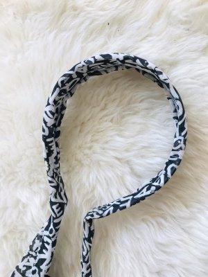 Opaska na włosy czarny-biały