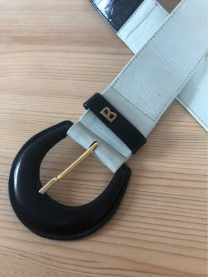 Bogner Leather Belt black-cream