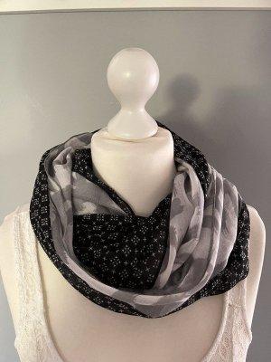 s.Oliver Foulard blanc-noir tissu mixte