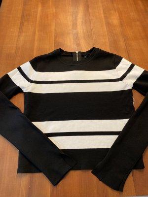 Schwarz/ weißer Pullover