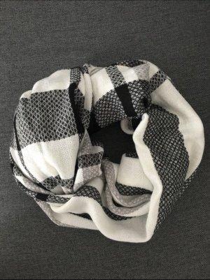 Pimkie Bufanda de punto blanco-negro