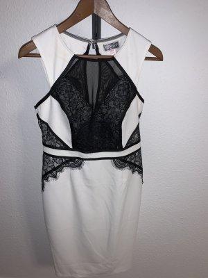Schwarz/ Weißes Abendkleid