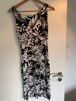 Schwarz-Weißes Blumenkleid Gr. 34
