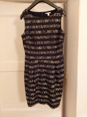 Schwarz-weißes Cocktail-Kleid mit Spitze von Esprit