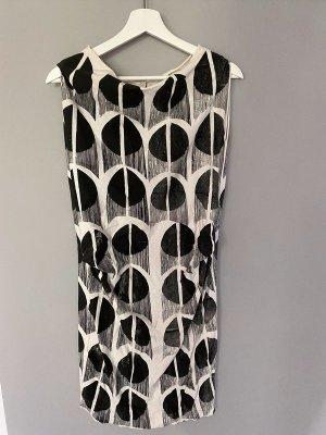 Schwarz/weißes Kleid, Gr. S/M / Handmade