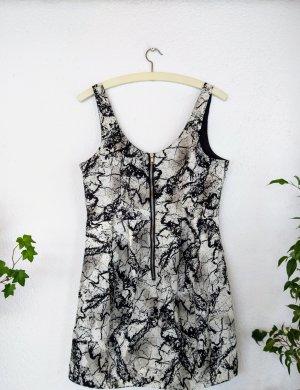 Schwarz-weißes Kleid von H&M Größe 40
