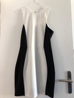 Mango Sheath Dress black-white