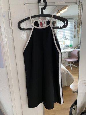 Schwarz-weißes Minikleid