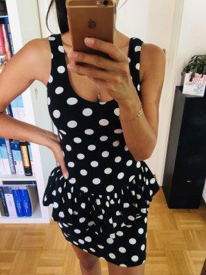 Schwarz-weisses Polkadot Kleid von forever21, Gr S