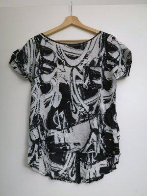 Schwarz weißes Printshirt