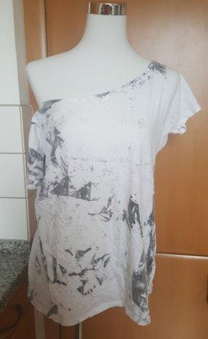 Schwarz-weißes Rock Rebel T-Shirt von EMP Gr. ca. M