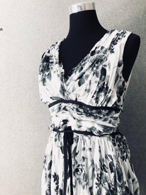 Schwarz-weißes Sommer-Tüllkleid mit Unterrock 36/38