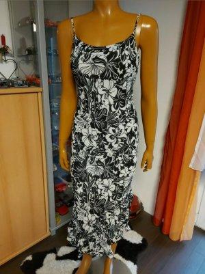 schwarz weißes Sommerkleid Kleid Größe S