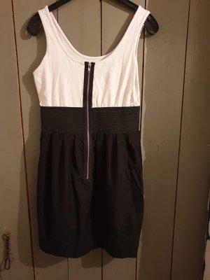 schwarz-weißes Sommerkleid Sommerkleid NoName