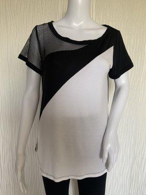 Schwarz weißes Sport Shirt
