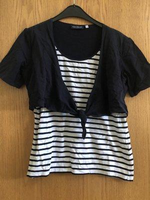 Schwarz / weißes T-shirt