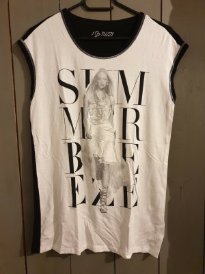 schwarz-weißes T-Shirt Shirt Tuzzi