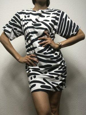 Popupshop Jersey Dress black-white
