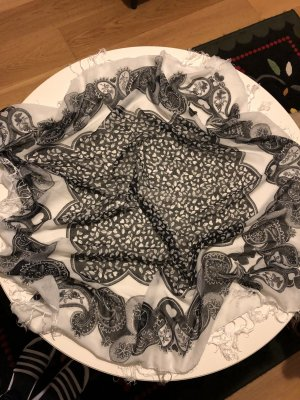 H&M Châle au tricot noir-blanc