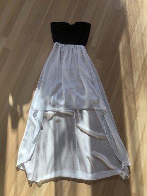 Schwarz/Weißes Vokuhila-Kleid
