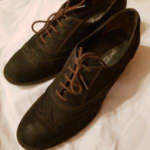 Paul Green Zapatos brogue negro-azul oscuro Cuero
