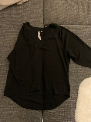Schwarze 3/4 Arm Bluse
