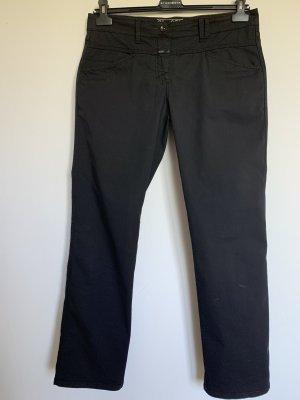 Closed Spodnie 3/4 czarny Bawełna