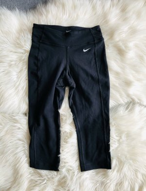 Schwarze 3/4 Nike Dri fit Leggings XS