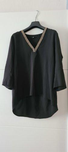 H&M Glanzende blouse zwart
