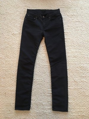 Acne Drainpipe Trousers black cotton